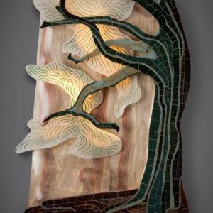 Bonsai, illuminated wall sculpture by Aaron Laux
