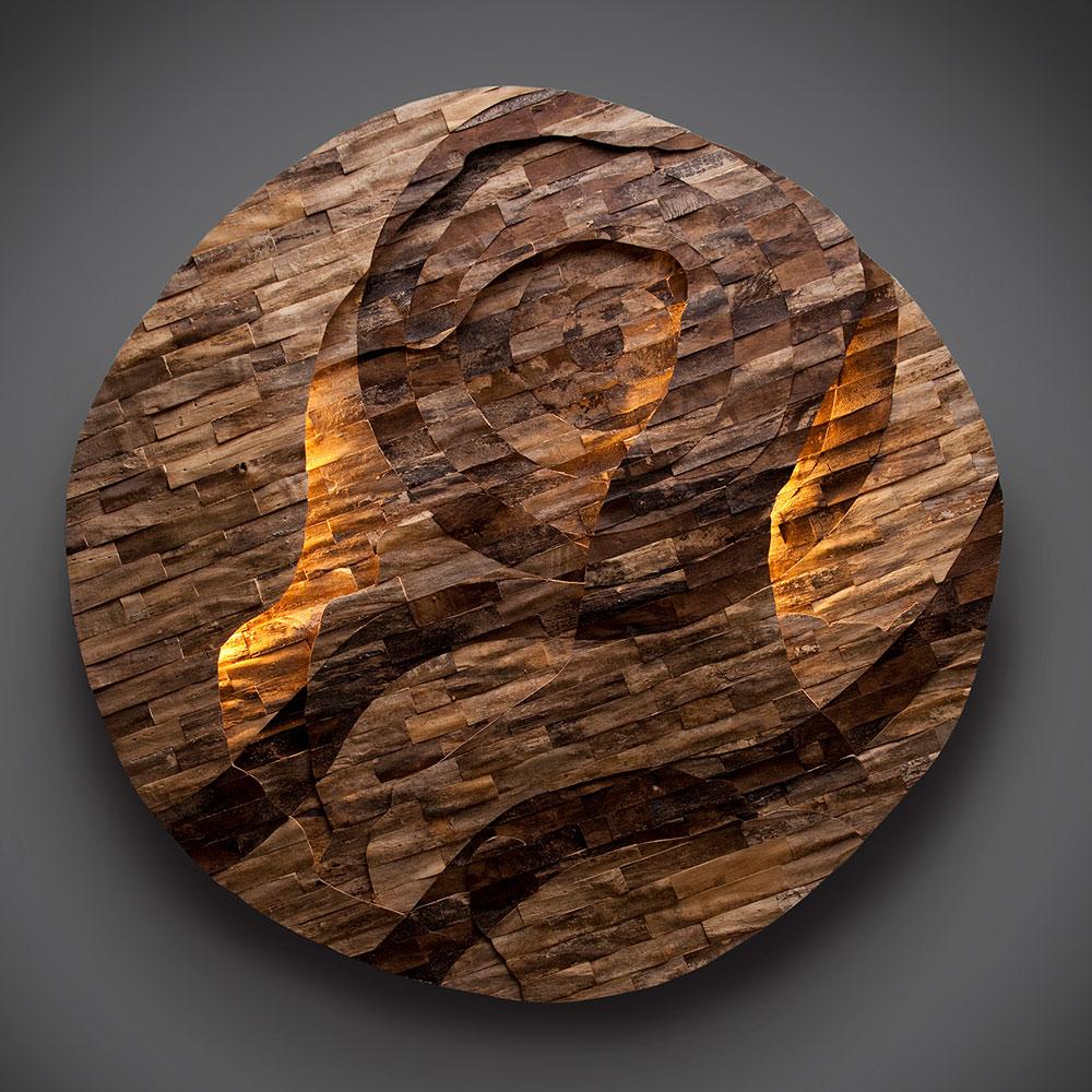 Mind Map, illuminated wall sculpture