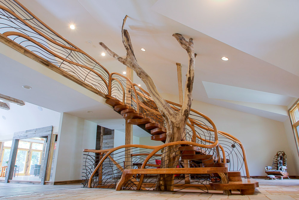 Treehouse stairs, custom staircase