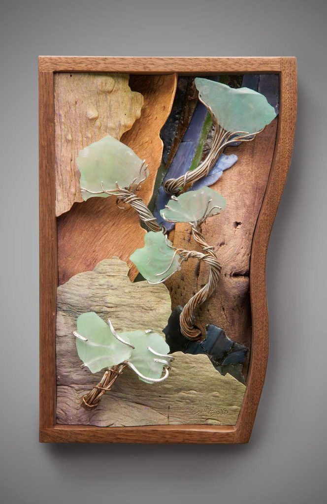 Imagination Scape wall relief sculpture