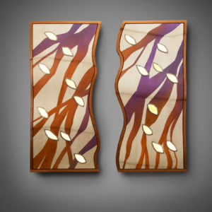 Wind Course commission illuminated wall sculpture